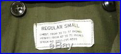 Vintage Military US Army Field Jacket with Major Patch, Reg Small, 33-37 Chest