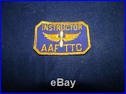 Vintage Military WWII 1950s US Army Air Corps Instructor Patch AAF TTC