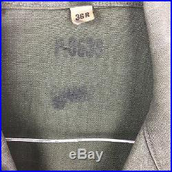 Vintage Original Korean Vietnam War WWII Us Army Combat Shirt Patches Button 50s