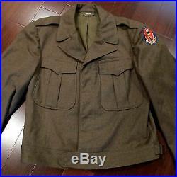 Vintage Original Ww2 Uniform Us Army Field Jacket Wool 36 S Patch Hq Etousa Co