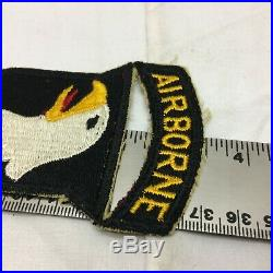 Vintage US 101st Army Airborne Infantry Division Patch Set 101 WWII