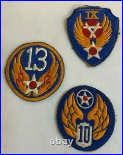 Vintage WW2 US Army Military Air Force Sergeant Rankings Patches Lot 13