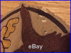 Vintage WWII US Army Air Force Wolf Jacket Patch. Hand Sewn 7 x 5 Inches Rare