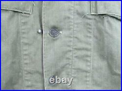Vintage WWII US Army HBT Special Combat Jacket 28th Div. Keystone Patch 1940s