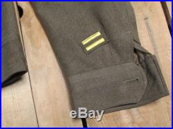 Vintage WWII US Army Wool M-1943 Field Jacket Military 1940s Patches Sz. 34 Nice