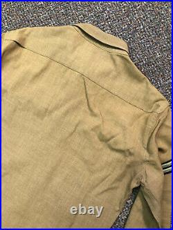 Vintage WWII US Military Wool Shirt Uniform Patches Army Air Forces