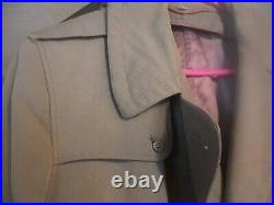 Vintage World War 2 Era Us Army Issue Trenchcoat
