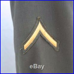 Vtg Post WW2 US Army 10th (USAAF) Enlisted Uniform Jacket with patches pins