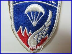 Vtg. Post WWII KW Era US Army 187th Airborne RCT Dark Blue SSI, FE, Snowy Patch