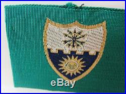 Vtg. Post WWII US Army 22nd Infantry Rgt. Bevo Embroidered Shoulder DUI Patch