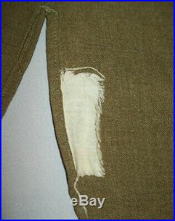 Vtg WWII 1940s Original US Army Shirt Olive Drab Wool With 44th Division Patches