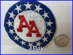 Vtg. WWII Era US Army 14th AAA Command EF, SSI Patch