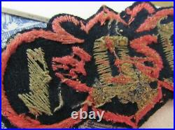 Vtg. WWII Named US Army 100th Chemical Mortar Bn. Italian Made Bullion Patch +