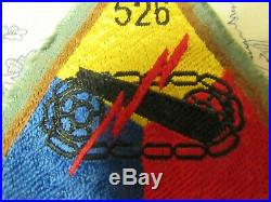 Vtg. WWII US Army 526th Armored Infantry Battalion / T Force Bevo Weave Patch