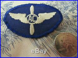 Vtg. WWII US Army Air Corps Aviation Cadet 1st Design ET Patch