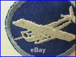Vtg. WWII US Army Enlisted Man's Blue Glider Troops Cap Patch ET Airborne
