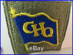 Vtg. WWII US Army GHQ SW Pacific Blue Flag & Purple Back Variation FE, SSI Patch