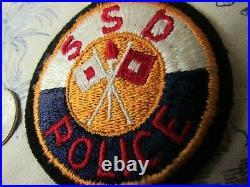 Vtg. WWII US Army Sacramento Signal Depot Police EF Patch
