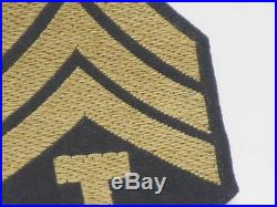 Vtg. WWII US Army Technician Sergeant 5th Grade RARE Aussie Bevo Weave Stripes