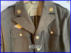 Vtg Wwii Ww2 Us Army Air Corps Sergeant Wool Dress Jacket Gi Engineer Patch +