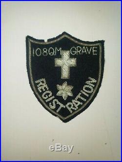WA1-10 Original WW2 US Army Patch 108th Quartermaster Graves Registration Co