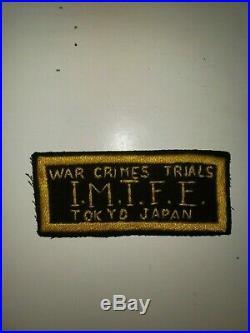 WA1-22 Original WW2 Era US Army War Crimes Trials Tokyo Japan IMTFE