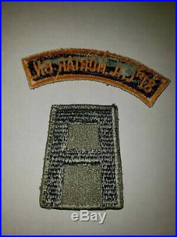 WA1-38 Original WW2 US Army 81st Chemical Mortar Battalion 1st Army Patch Set