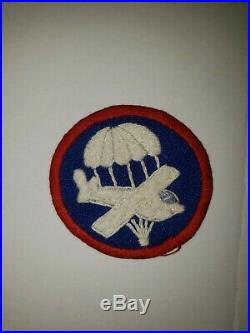 WA1-8 Original WW2 US Army Enlisted EM NCO Cap Patch Air Force AAF Heavy Thread
