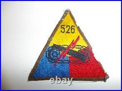 WA3-6 WW 2 US Army 526th Tank Battalion woven Armored Triangle German original