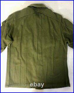 WORLD WAR II WWII US Army Wool Shirt Jacket withPatches Size Small
