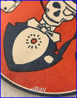 WW2 400th Bomb Group Leather Patch Top Hatters US Army Air Force 5 Diameter A-2