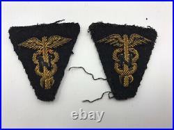 WW2 ANC Army Nurse Corps Bullion Patch Set Womens Medical Bar US lieutenant