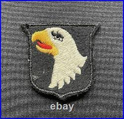 WW2 British Made US 101st Airborne Cloth Patch x 100% Original Formation Sign