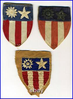 WW2 Bullion CBI Patch Theater Made Special Unit Provisional U. S. Army Lot of 3