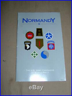 WW2 D-Day Normandy US Army order of battle grouping with booklet