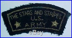 WW2 Stars and Stripes US Army Bullion Euro Made Patch