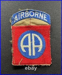 WW2 US 82nd Airborne Cloth Patch One Piece Uncut x 100% Original