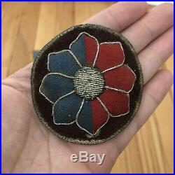 WW2 US ARMY 9TH INFANTRY DIVISION ORIGINAL Theater Made BULLION Felt Patch WWII