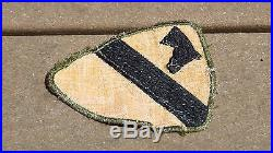 WW2 US ARMY MILITARY 1st CAVALRY DIVISION TWILL PATCH SSI VARIATION CUT EDGE