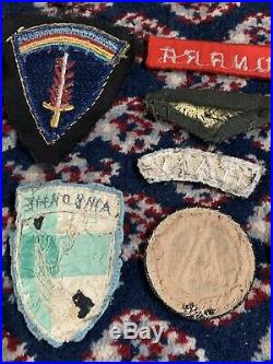 WW2 US ARMY Military Bullion Airborne Paratrooper Large Patch Grouping Lot