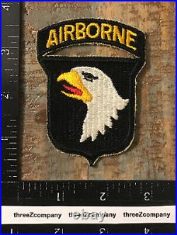 WW2 US Army 101st Airborne Division SSI Patch + Attached Tab