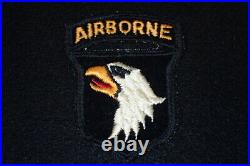 WW2 US Army 101st Airborne Division SSI Shoulder Patch English Embroidered Felt