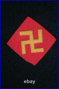 WW2 US Army 45th Infantry Division SSI Shoulder Patch Pre-War Wool 1st Design VG
