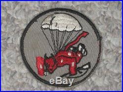 WW2 US Army 508th Airborne Infantry Regiment Red Devil Patch WWII Cut Edge Error