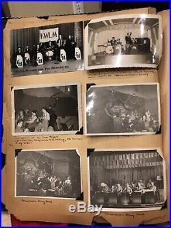 WW2 US Army 558th Air Force Band Scrap Book, Pianist Andrew berggreen, Saipan