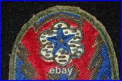 WW2 US Army Advanced Sector SSI British Altered Bullion Patch ETO Rare Original