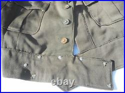 WW2 US Army Air Corp RCAF Pilots Ike Jacket Bullion Patch Silver Pilot Wing