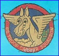 WW2, US Army Air Corps 4th Troop Carrier Squadron Leather Patch, Exc. Cond