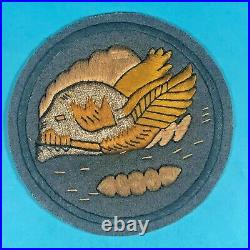 WW2, US Army Air Corps 85th Fighter Squadron Patch, Hand Emb. On Felt, Exc. Cond