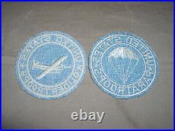 WW2 US Army Airborne Glider / Parachute Infantry Jacket patch set
